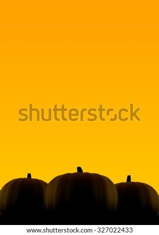 Halloween pumpkin silhouette  - stock photo