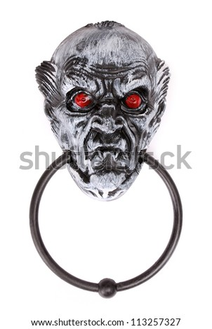 halloween scary door knocker - stock photo