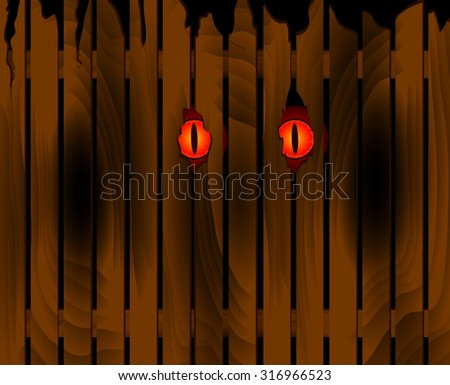 halloween scary eyes of illustration.  - stock photo