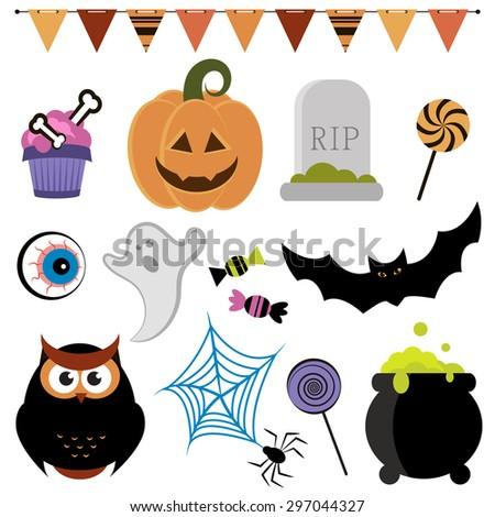 Halloween set. Raster version - stock photo