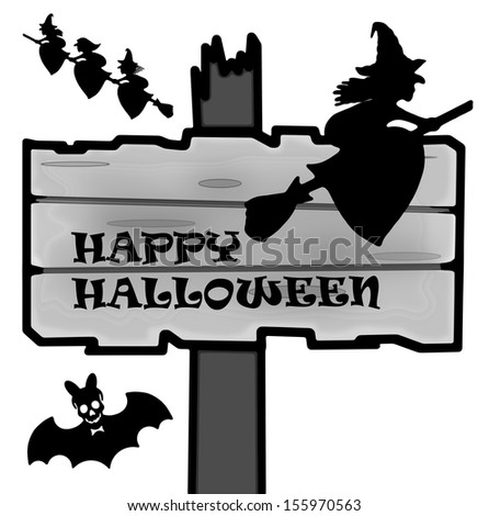 Halloween sign shape and icon - stock photo