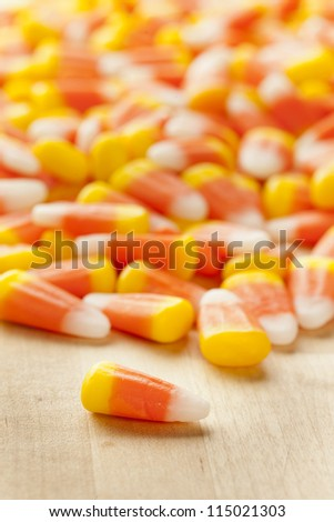 Halloween Striped Candy Corn against a background - stock photo