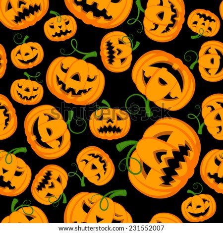 Halloween Themed Seamless  Backgrounds.(can be repeated and scaled in any size) - stock photo