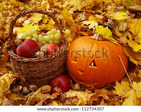 halloween torchbearer      - stock photo