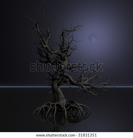 Halloween Tree - stock photo