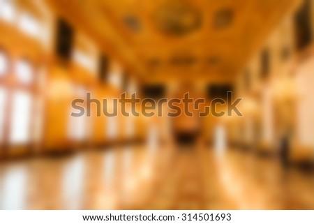 hallway blurred background - stock photo
