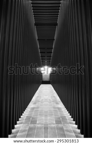Hallway in Modern Building - stock photo