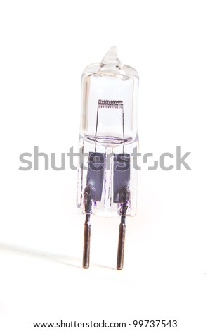Halogen lamp isolated on white background - stock photo
