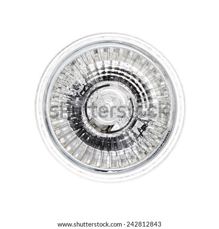 Halogen light bulb isolated on white - stock photo