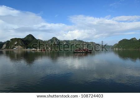 Halong Bay Vietnam - stock photo