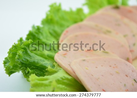 Ham Bologna chili - stock photo