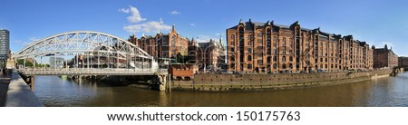Hamburg, Germany, Historic Warehouse District - stock photo