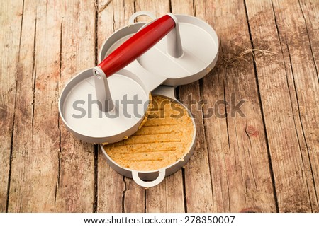 Hamburger press. Filtered image - stock photo