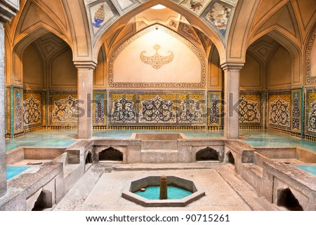 Hammam-e Ali Gholi Agha historic bath, Esfahan, Isfahan, Iran - stock photo