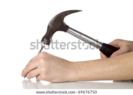 Hammer - stock photo
