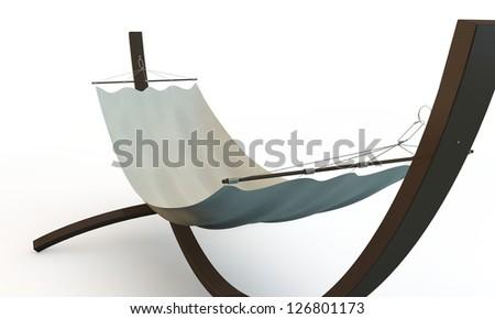 hammock isolated on white background - stock photo