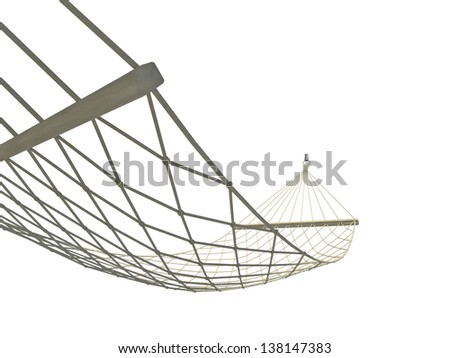 hammock on a white background - stock photo