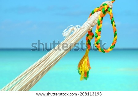 Hammock with color line - stock photo