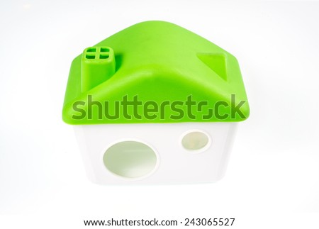 Hamster's  house isolated on a white background - stock photo