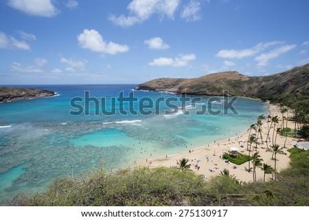 Hanauma bay, Honolulu Hawaii - stock photo