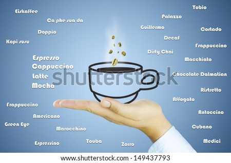 hand and coffee cup - stock photo