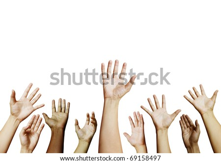 Hand assistance - stock photo