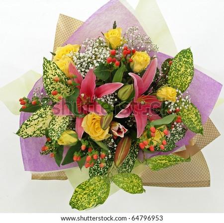 Hand Bouquet - stock photo