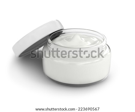 Hand cream box - stock photo