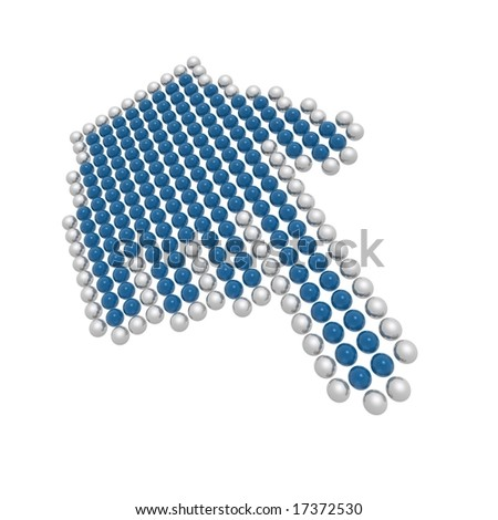 hand cursor  (blue and silver series) - stock photo