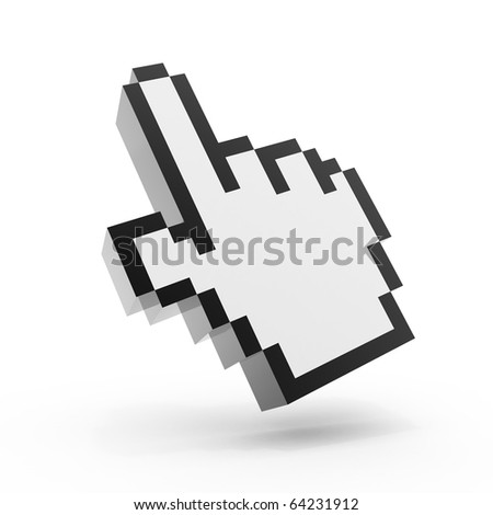 Hand cursor icon - stock photo