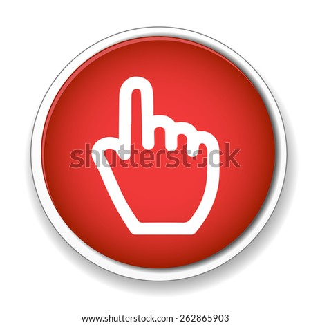 Hand cursor sign icon. Hand pointer symbol - stock photo
