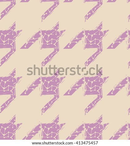 Hand drawn doodle sketchy houndstooth seamless pattern design, repeating background for all web and print purposes, raster version - stock photo