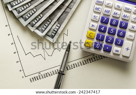 Hand drawn financial chart  - stock photo