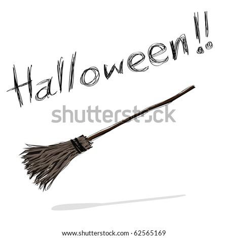 hand-drawn halloween theme message - 7 of series. - stock photo