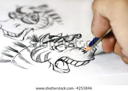 hand drawn illustration - stock photo
