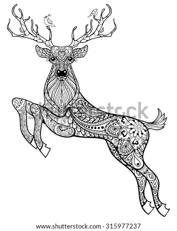 deer coloring pages for adults sketch of a red stag coloring pages