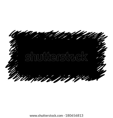 Hand Drawn Scribble Shape, raster design element  - stock photo