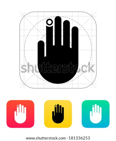 Hand finger id icon. - stock photo