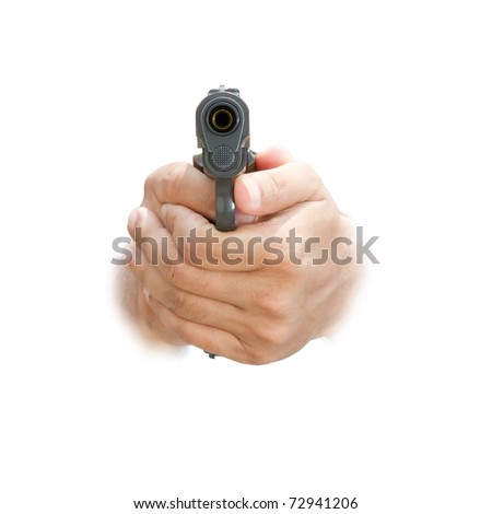 Hand hold guns - stock photo