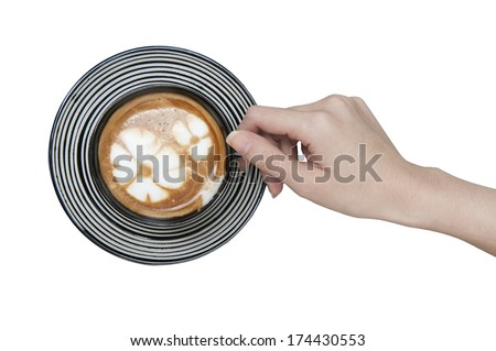 hand holding coffee cup - stock photo