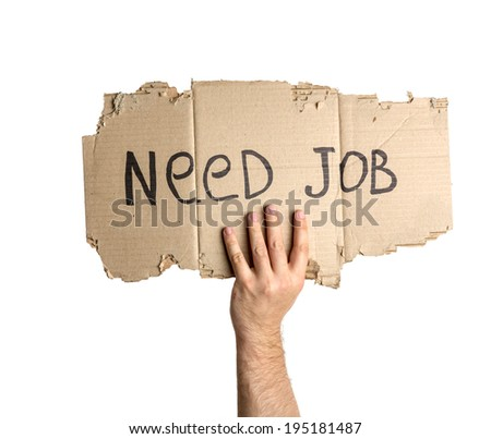Hand holding corrugated cardboard torn - stock photo