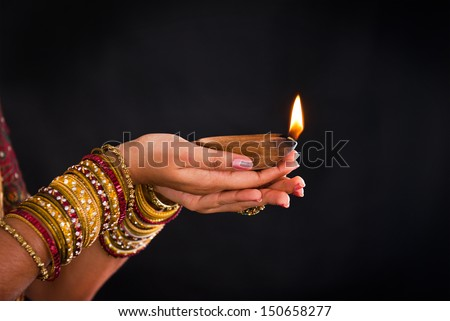 Diwali stock photos images pictures shutterstock for Agal vilakku decoration