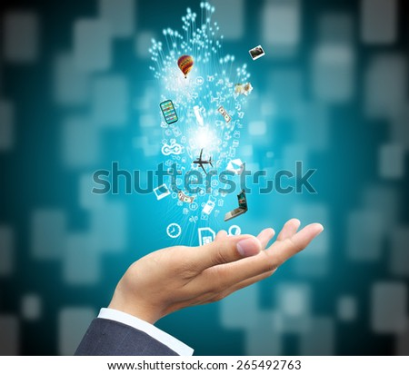 hand holding technology - stock photo