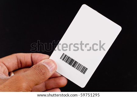 Hand Holding Up Security Clearance Card - stock photo