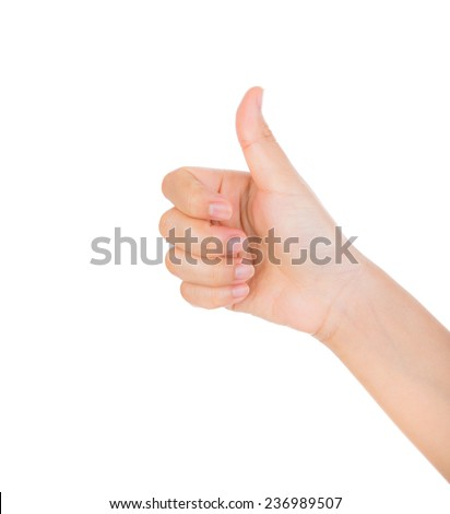 Hand like concept isolated on white background - stock photo