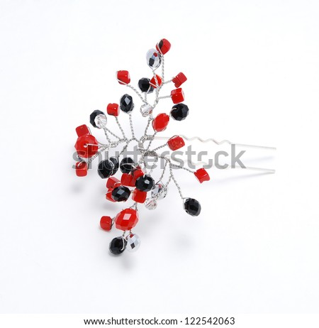 Hand made hairpin - stock photo