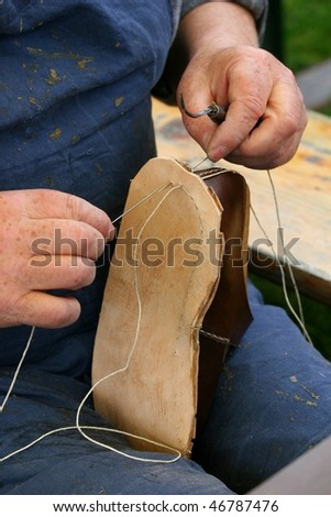 hand made shoes - stock photo