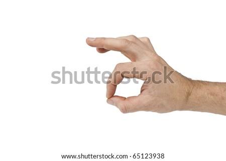 hand making sign Ok isolated on white background - stock photo