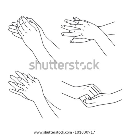 Hand massage treatment set - stock photo