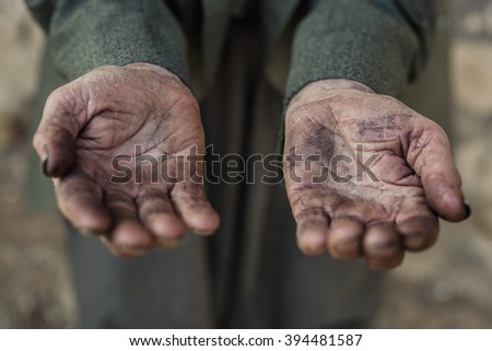 hand of a old man  - stock photo
